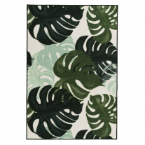 Matta 4LIVING MONSTERA 133X190cm Svart/Vit