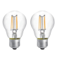 LED filament 2PACK 6W klar E27, 2700K